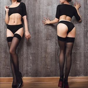 Other - NEW! Black Thigh High Stockings Leggings